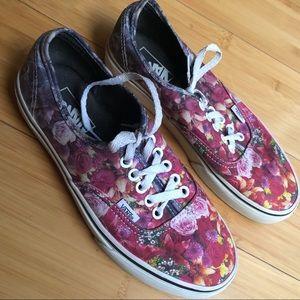 Ombré Floral Vans